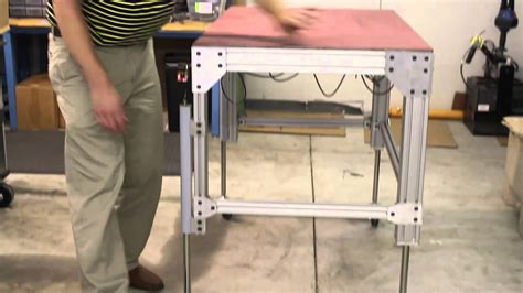 build adjustable table legs portable adjustable height table with dyna lift kit