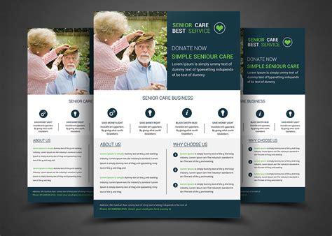 Senior Care Flyer Template Templates On Creative Market Nursing Flyer Templates