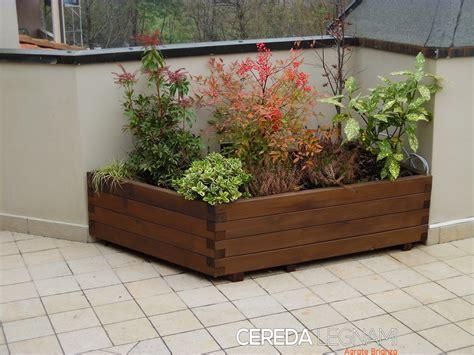 fioriere in legno per esterno fioriere legno