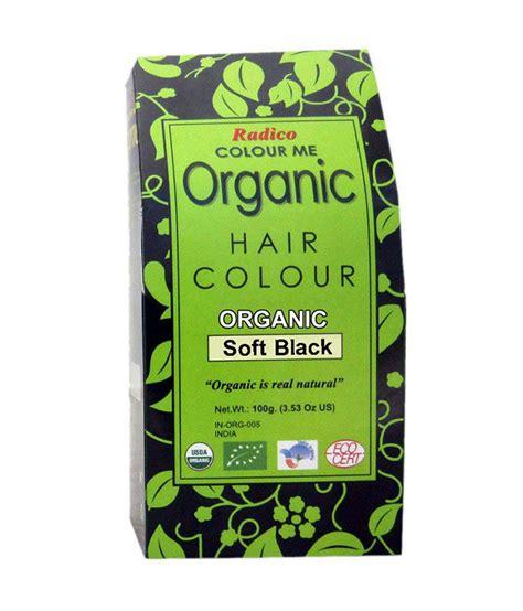 organic hair color radico colour me organic soft black hair colour 100gm