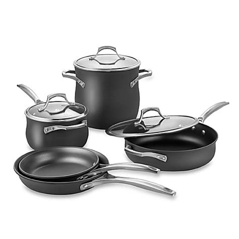 bed bath and beyond pots calphalon 174 unison nonstick 8 piece cookware set bed