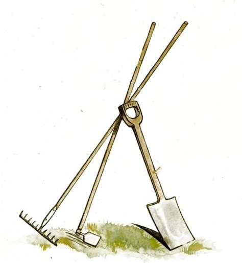 backyard tools flowers clipart