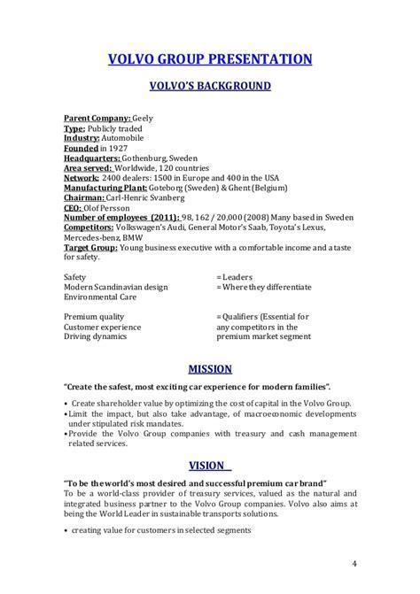 report volvo company