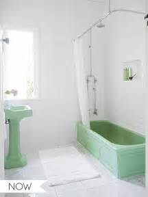 Bathroom Sink Pedestal Only Everything Old Is New Again Green And White Bathroom