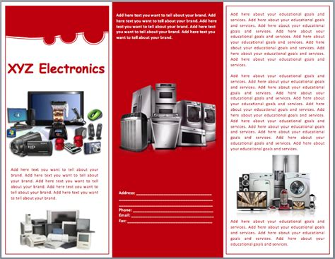 electronics sales brochure template word templates