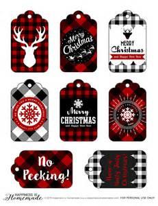 buffalo check plaid printable gift tags happiness is