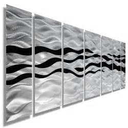 ways silver and black modern metallic wall hanging