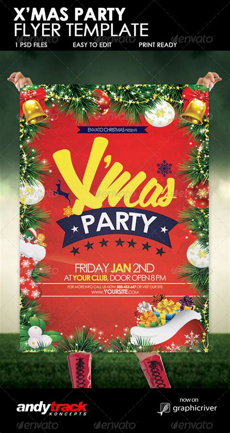 christmas party flyer template by andytrackghana