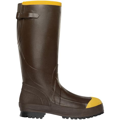 steel toe rubber work boots s lacrosse 174 16 quot alpha aggressive steel toe work boots