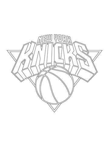 New York Knicks Coloring Pages new york knicks logo coloring page free printable