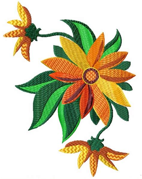 embroidery design flower summer flowers 12 machine embroidery designs set ebay