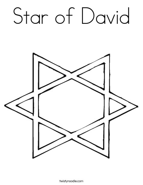 coloring page star of david star of david coloring page twisty noodle