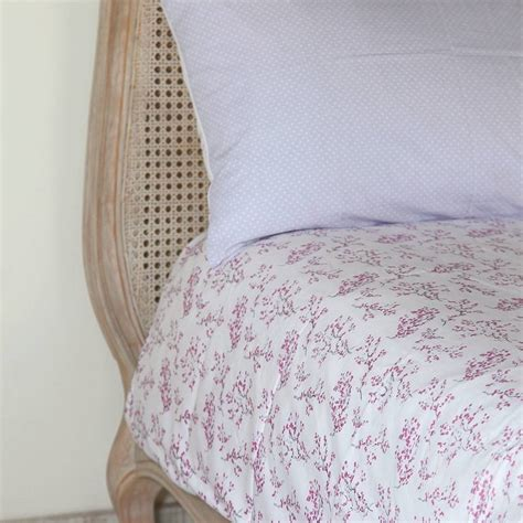 Single Duvet On Cot Bed lilac blossom single and cot bed duvet set by em lu notonthehighstreet