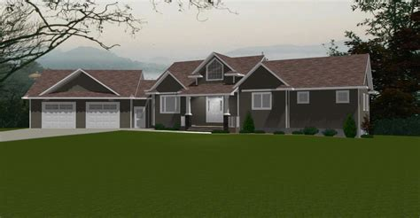 Basement In Law Suite Floor Plans bungalow house plans by e designs page 9