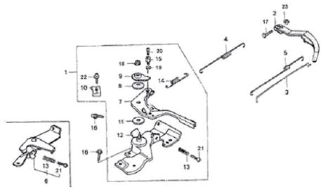 honda gx160 parts diagram honda gx160 gx200 throttle return pf168p05 1