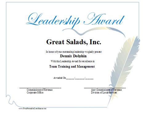 Fake Joke Awards Diplomas Just B Cause Leadership Certificate Template Free