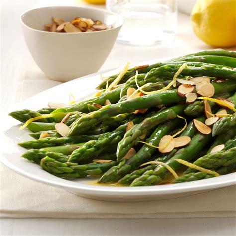 dishes with asparagus lemon almond asparagus recipe taste of home