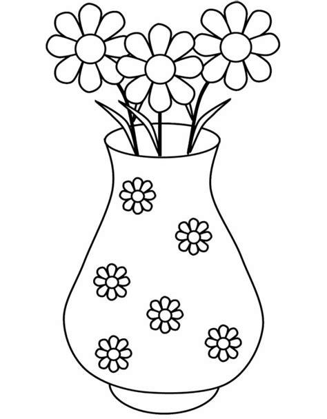 Flower Vase Drawing Step By Step by Disegno Di Vaso Di Margherite Da Colorare Per Bambini