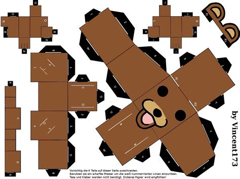 Papers Craft - cybergata pedobear papercraft