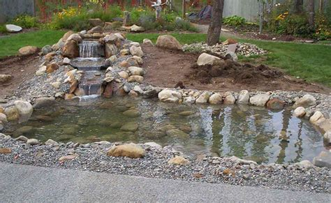 how to build a pool waterfall how to build a pond stream waterfall decor references