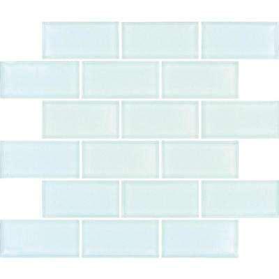 Glass Kitchen Backsplash Tiles glass tile tile the home depot