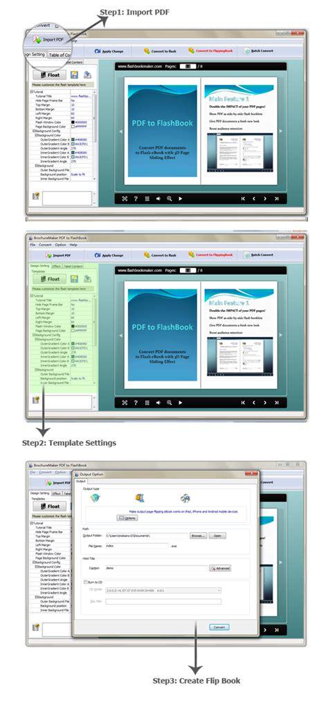Free Brocuremaker Pdf To Flashbook Swf Converter Flash Brochure Maker Freeware