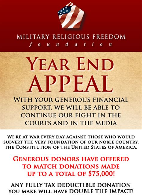 Year End Appeal Letter Sle Mrff Year End Appeal 2011 Mrff