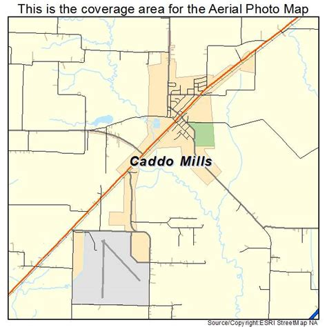 caddo texas map aerial photography map of caddo mills tx texas
