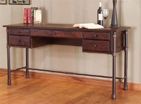 mango wood home office desk lodge craft