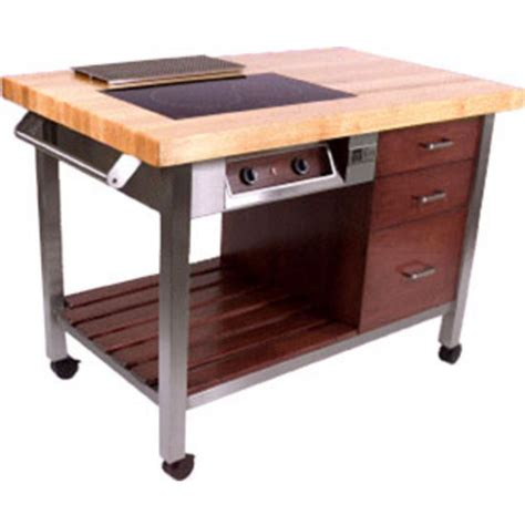 boos master chefs kitchen work table with cook top