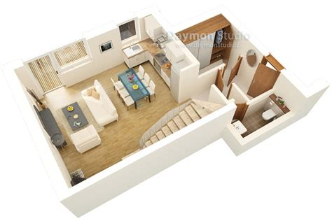 Apartments Floor Plans 3 Bedrooms by Ground Floor Plan 3d