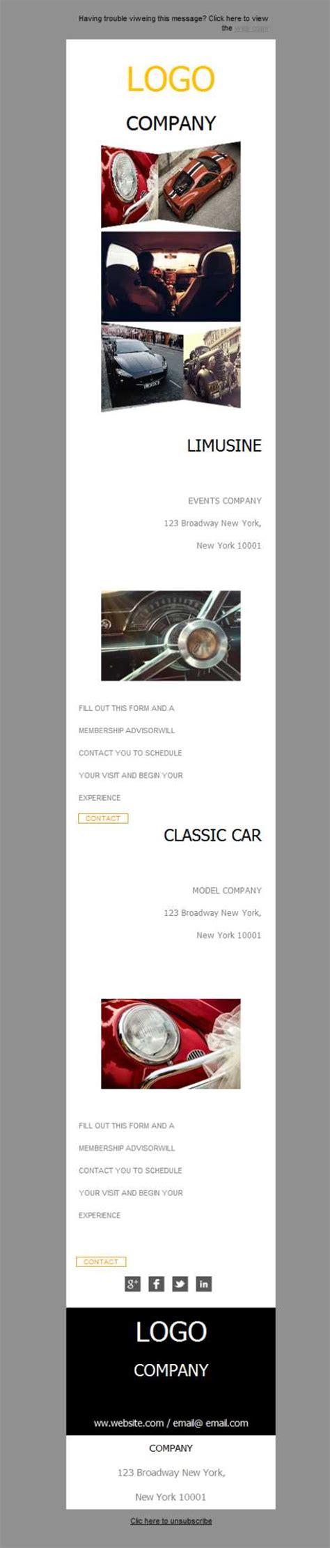 Plantilla De Newsletter Responsive Gratis Quot Car Dealer Classic Quot Para Email Marketing Mailify Car Sales Newsletter Template
