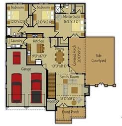 Small House Floorplans plano de casa grande y lujosa de 164m2