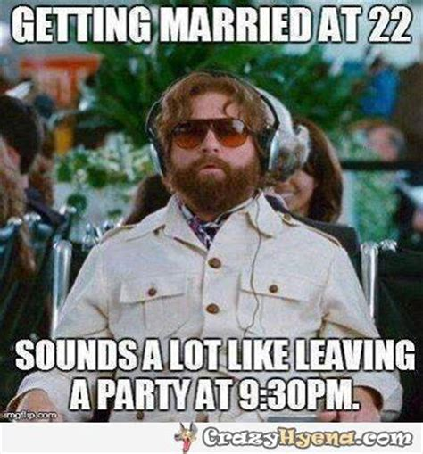 Meme Young - getting married young funny image