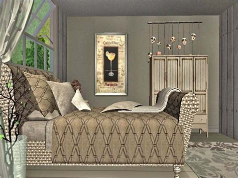 sims 2 bedroom chesterfield inspired bed recolors lady t sims 2 designs