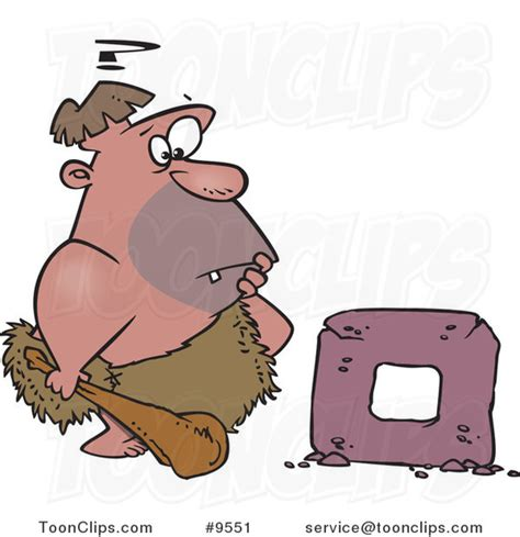 funny cartoons caveman wheel cartoon caveman trying to create a wheel 9551 by ron leishman