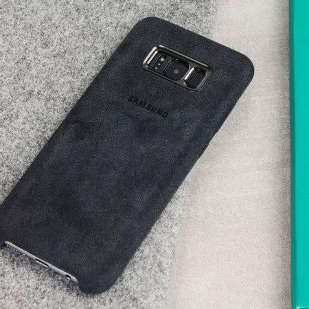 Casing Untuk Samsung S8 3 Custom Cover official samsung galaxy s8 alcantara cover silver grey mobilezap australia
