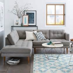 Small L Tables For Living Room Peggy Mid Century Terminal Chaise Sectional West Elm For Basement Check Retardant Info