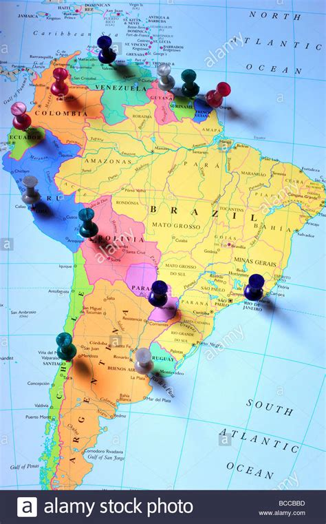 free stock images us map map pins in south america map stock photo royalty free