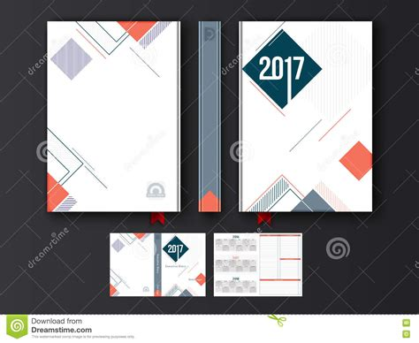 design diary cover diary cover design for 2017 stock illustration image