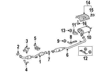 1999 toyota camry exhaust system diagram parts 174 toyota gasket exhaust pipe partnumber 9008043033