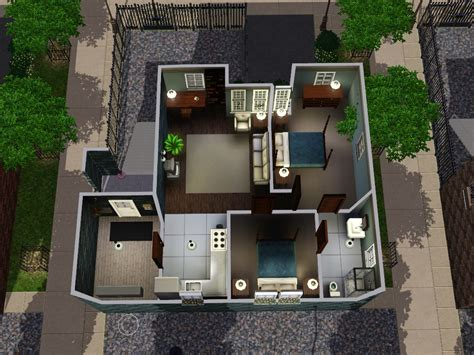 Jack And Jill Bathroom Plans Apartments For Sims 3 At My Sim Realty