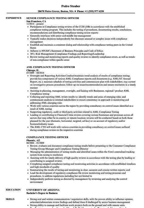 compliance officer resume objective do 5 things