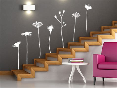 treppenflur farblich gestalten wandtattoo im treppenhaus auf treppe wand co