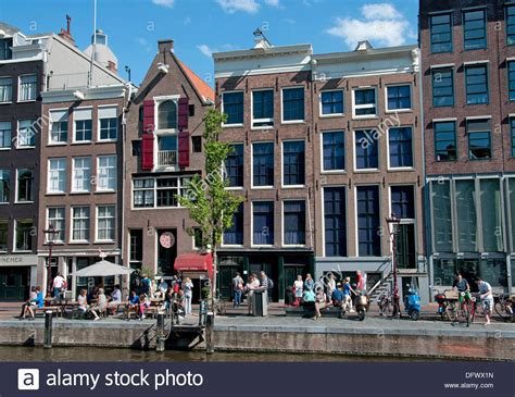 anne frank house amsterdam the anne frank house prinsengracht 263 265 canal in amsterdam the stock photo royalty