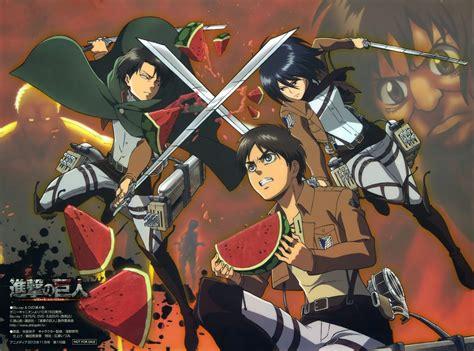 gambar anime attack on titan levi poster anime shingeki no kyojin attack on titan