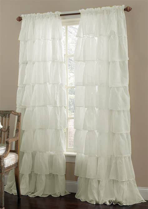 ruffled swag curtains gypsy ruffled sheer curtains cream lorraine home