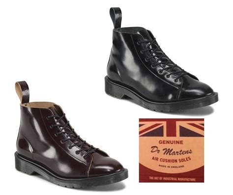 Dr Martens 156169 Made In Docmart Dr Martens dr martens les made in mie boanil brush leather 7 up monkey doc boots ebay