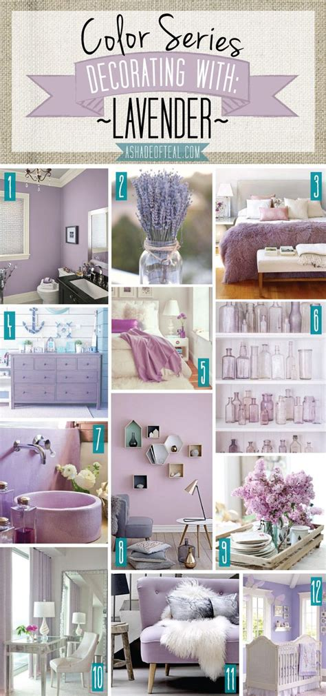 Color series decorating with lavender lavender purple lilac home decor a shade of teal