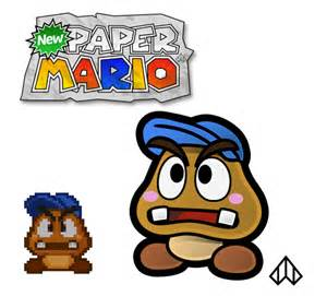new paper mario goombario by nelde on deviantart